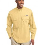 Eddie Bauer - Long Sleeve Fishing Shirt Style EB606 Goldenrod Yellow