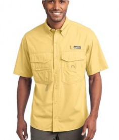 Eddie Bauer - Short Sleeve Fishing Shirt Style EB608 Goldenrod Yellow