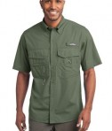 Eddie Bauer - Short Sleeve Fishing Shirt Style EB608 Seagrass Green