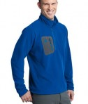 Eddie Bauer First Ascent - Cloud Layer Fleece 1/4-Zip Pullover Style FA700 Ascent Blue Angle