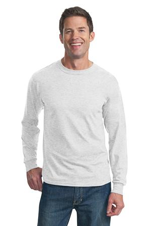 Fruit of the Loom Heavy Cotton HD 100% Cotton Long Sleeve T-Shirt Style 4930 Ash