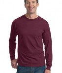 Fruit of the Loom Heavy Cotton HD 100% Cotton Long Sleeve T-Shirt Style 4930 Maroon