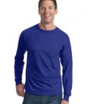 Fruit of the Loom Heavy Cotton HD 100% Cotton Long Sleeve T-Shirt Style 4930 Royal