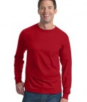 Fruit of the Loom Heavy Cotton HD 100% Cotton Long Sleeve T-Shirt Style 4930 True Red