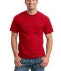 Gildan - DryBlend 50 Cotton/50 Poly Pocket T-Shirt Style 8300