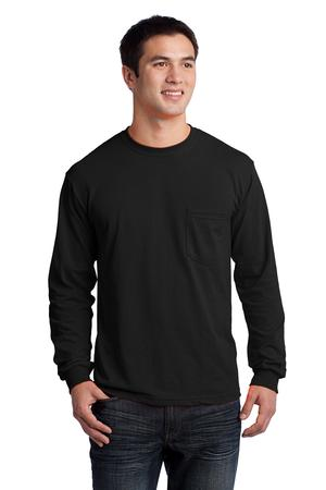 Gildan - Ultra Cotton 100% Cotton Long Sleeve T-Shirt with Pocket Style 2410