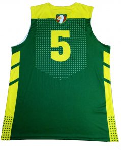 green and yellow basketball jersey-back