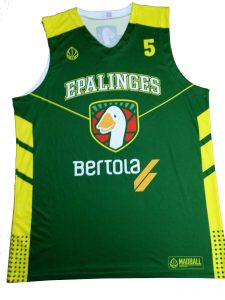 green and yellow basketball jersey-front