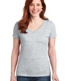 Hanes Ladies Nano-T Cotton V-Neck T-Shirt Style S04V