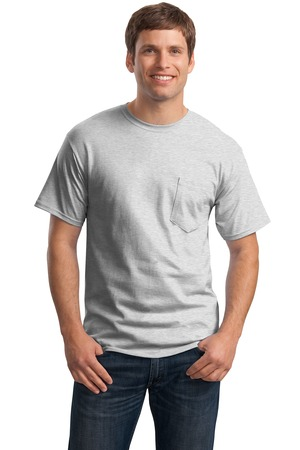 Hanes - Tagless 100%  Cotton T-Shirt with Pocket Style 5590