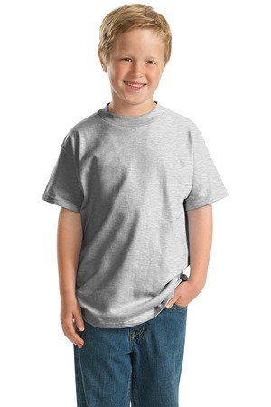 Hanes  -  Youth Beefy-T Born to Be Worn 100% Cotton T-Shirt Style 5380