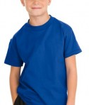Hanes - Youth Tagless 100%  Cotton T-Shirt Style 5450