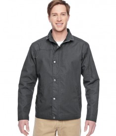 Harriton Adult Auxiliary Canvas Work Jacket Dark Charcoal