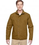 Harriton Adult Auxiliary Canvas Work Jacket Duck Brown