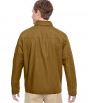 Harriton Adult Auxiliary Canvas Work Jacket Duck Brown Back