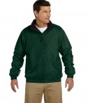 Harriton Fleece-Lined Nylon Jacket Hunter/Black