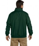 Harriton Fleece-Lined Nylon Jacket Hunter Black Back