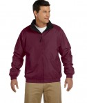Harriton Fleece-Lined Nylon Jacket Maroon/Black