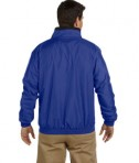 Harriton Fleece-Lined Nylon Jacket True Royal Back