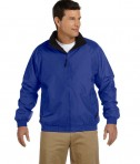 Harriton Fleece-Lined Nylon Jacket True Royal/Black