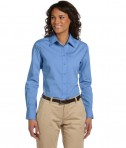 Harriton Ladies' 3.1 oz. Essential Poplin Light College Blue