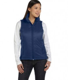 Harriton Ladies' Essential Polyfill Vest New Navy
