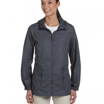 harriton-ladiess-essential-rainwear-graphite