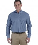 Harriton Men's 3.48 oz. Chambray DK Blue Chambray