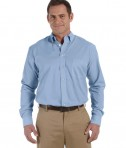 Harriton Men's 3.48 oz. Chambray LT Blue Chambray