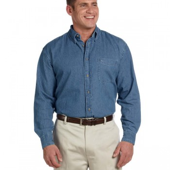 harriton-mens-6.5-oz-long-sleeve-denim-shirt-light-denim