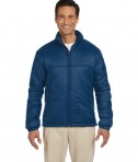 Harriton Men's Essential Polyfill Jacket New Navy
