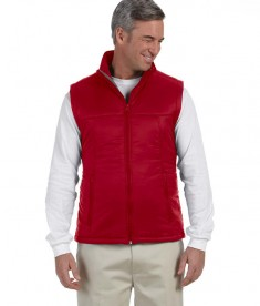 Harriton Men's Essential Polyfill Vest Red