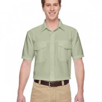 harriton-mens-key-west-short-sleeve-performance-staff-shirt-green-mist