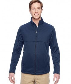 Harriton Men's Task Performance Fleece Full-Zip Jacket Dark Navy
