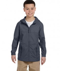 Harriton Youth Essential Rainwear Graphite