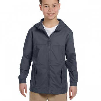 harriton-youth-essential-rainwear-graphite