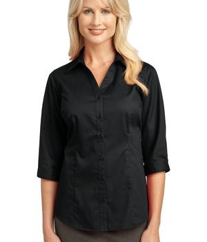 IMPROVED Port Authority Ladies 3/4-Sleeve Blouse Style L6290 1