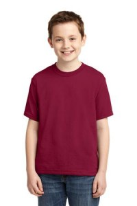 JERZEES - Youth Heavyweight Blend 50/50 Cotton/Poly T-Shirt Style 29B Cardinal