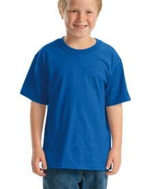 JERZEES - Youth Heavyweight Blend 50/50 Cotton/Poly T-Shirt Style 29B Royal
