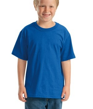 JERZEES – Youth Heavyweight Blend 50/50 Cotton/Poly T-Shirt Style 29B Royal