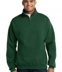 JERZEES 1/4-Zip Cadet Collar Sweatshirt Style 995M Forest Green