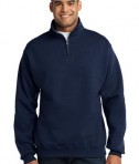 JERZEES 1/4-Zip Cadet Collar Sweatshirt Style 995M Navy