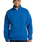 JERZEES 1/4-Zip Cadet Collar Sweatshirt Style 995M Royal