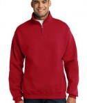 JERZEES 1/4-Zip Cadet Collar Sweatshirt Style 995M True Red