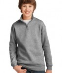JERZEES Youth 1/4-Zip Cadet Collar Sweatshirt Style 995Y Oxford