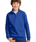 JERZEES Youth 1/4-Zip Cadet Collar Sweatshirt Style 995Y Royal