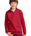 JERZEES Youth 1/4-Zip Cadet Collar Sweatshirt Style 995Y True Red