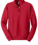 JERZEES Youth 1/4-Zip Cadet Collar Sweatshirt Style 995Y True Red Flat Front
