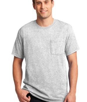 JERZEES –  Heavyweight Blend 50/50 Cotton/Poly Pocket T-Shirt Style 29MP 1