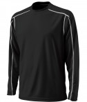 Charles River Apparel 3137 Mens Long Sleeve Wicking Tee Shirt: Black